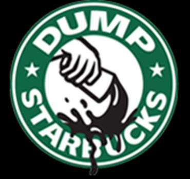 """""""Dump Starbucks"""" logo"""