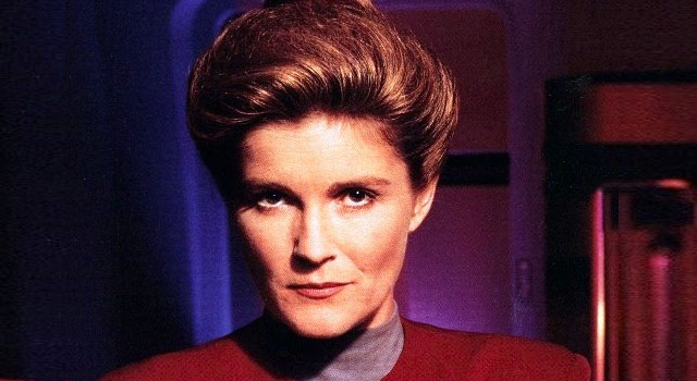 Kate Mulgrew as the legendary Captain Janeway