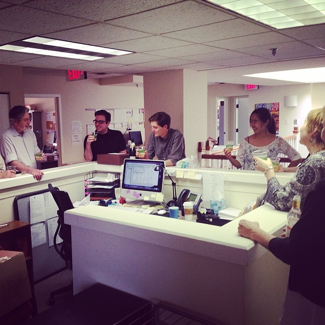 The Spring 2014 interns with few of the editors (via Gabriel Arana's Instagram - gabrielarana)