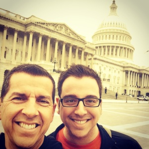My dad and me at the Capitol building in DC - May 2014